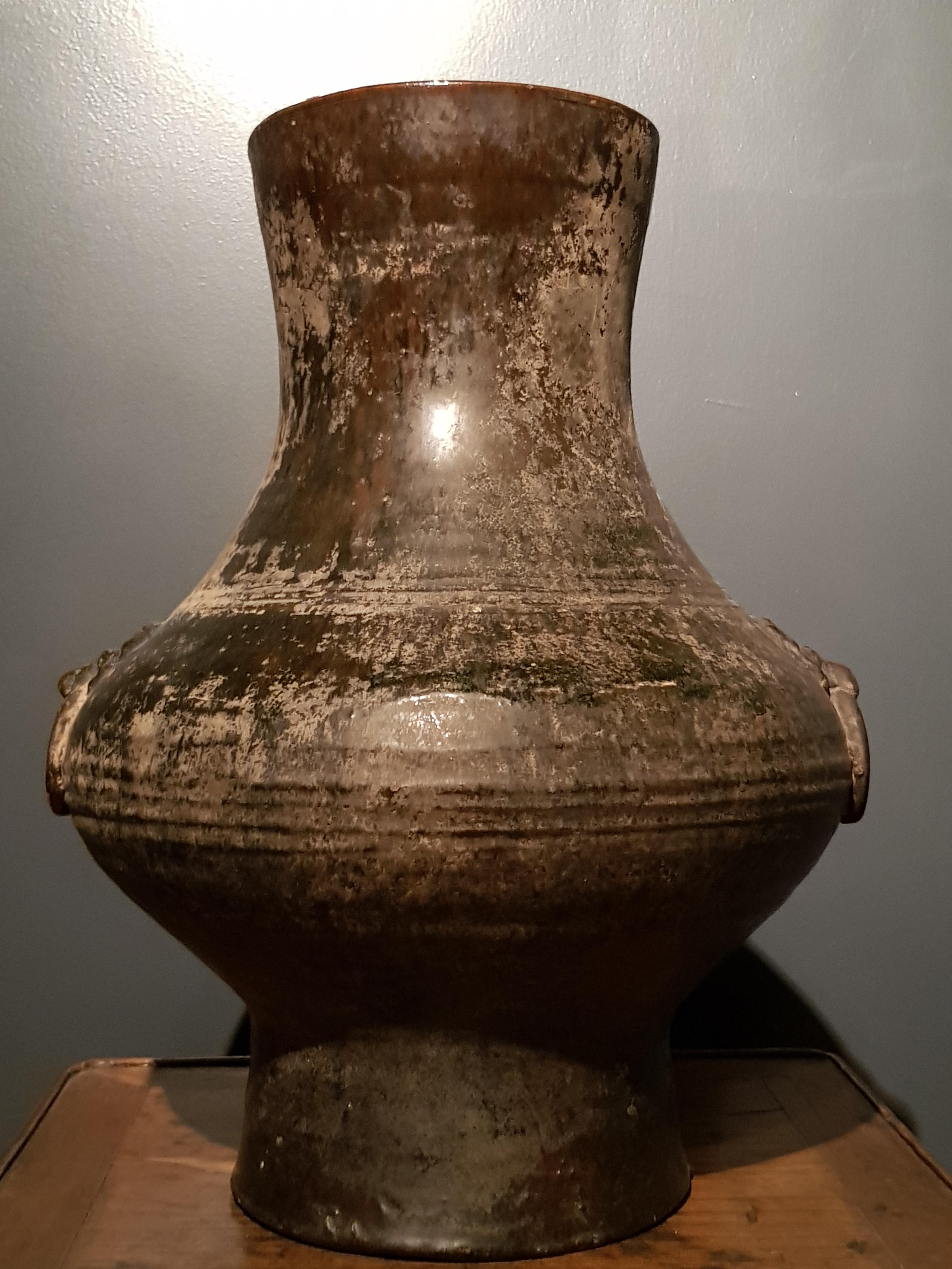 Vase de forme Hu - Dynastie Han(206BC - 220) - TL - VENDU Image