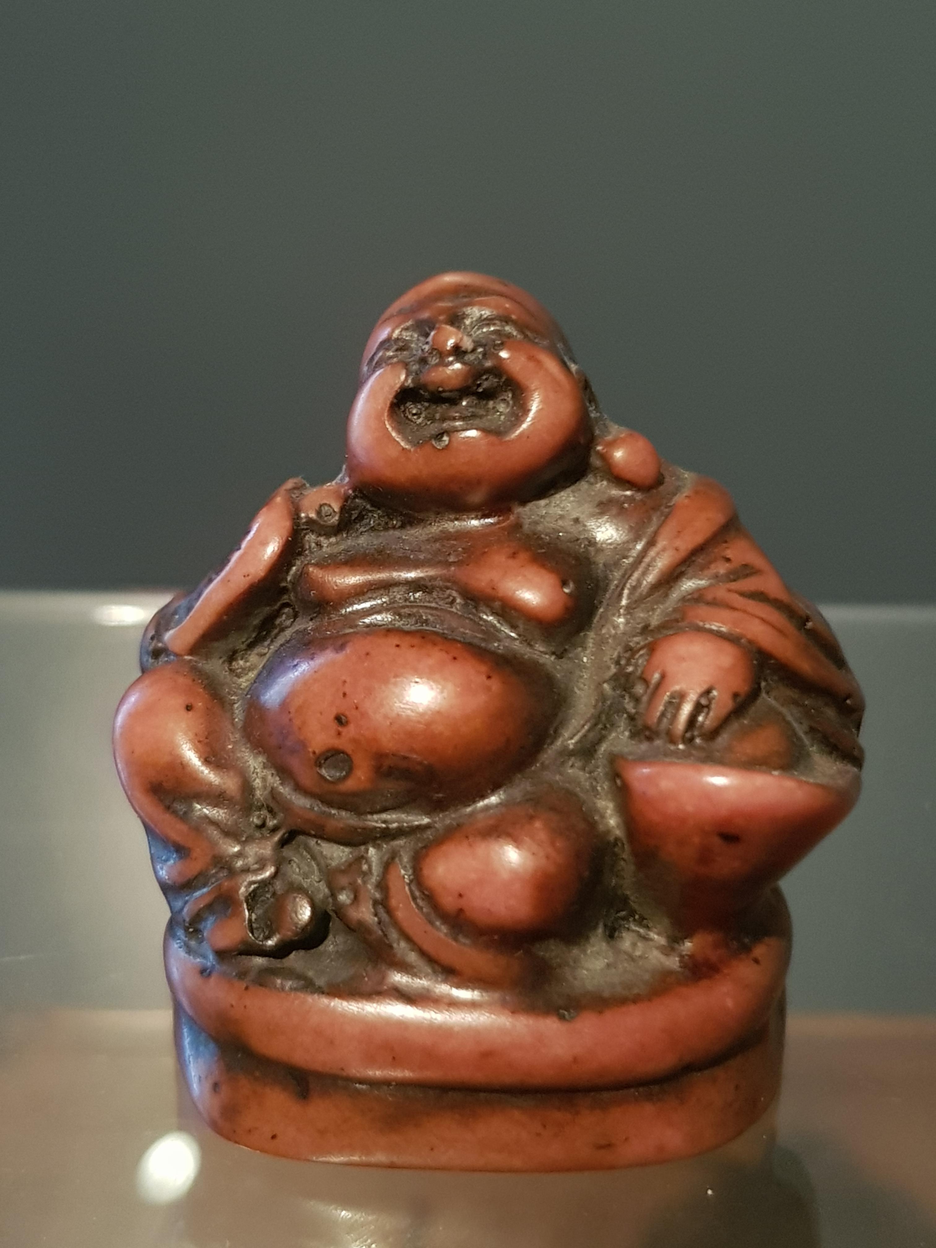 Bouddha - Petit okimono en Stéatite Image