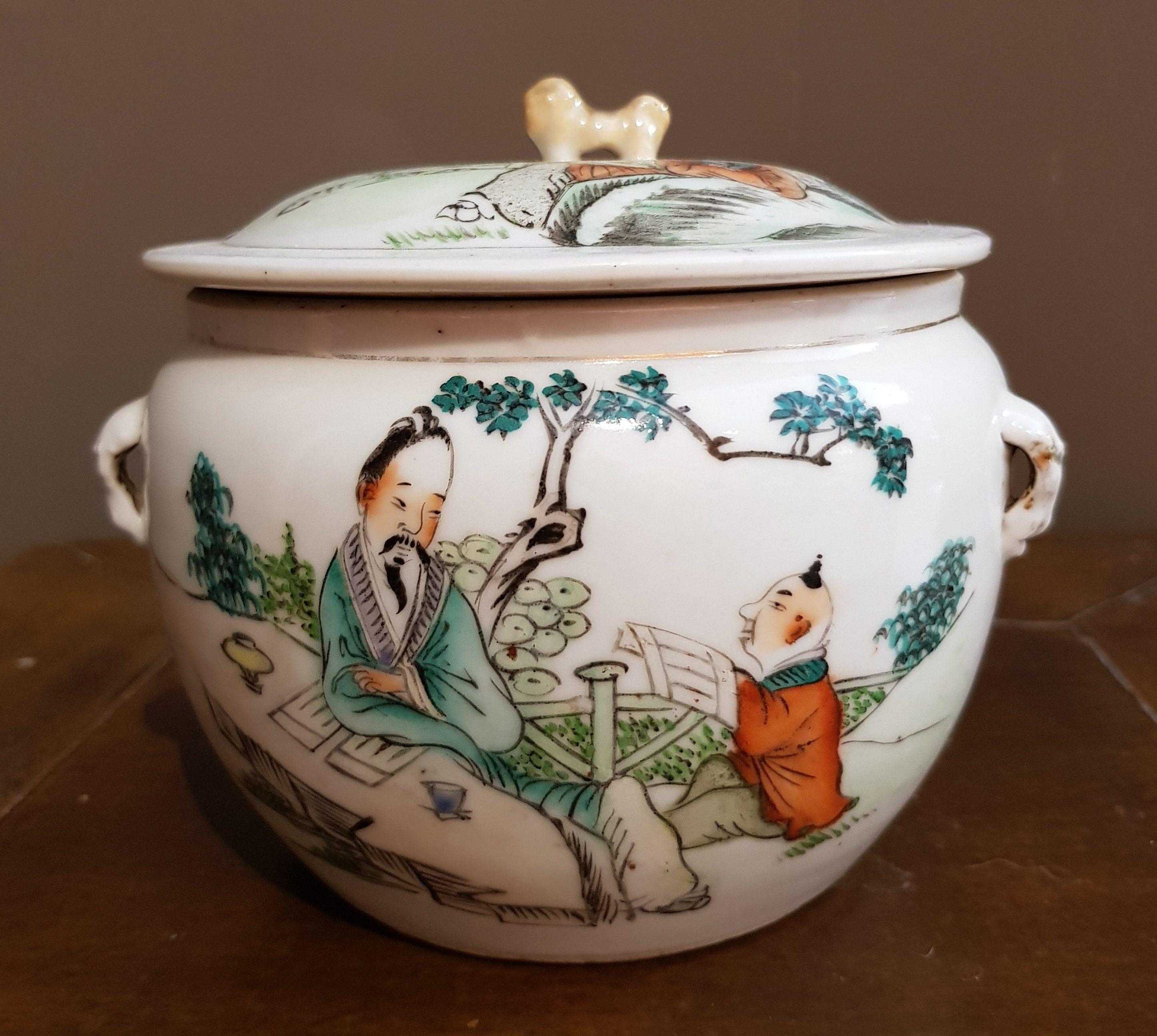 Pot couvert en Porcelaine de Chine - Famille Rose - Wu Shuang Pu Image