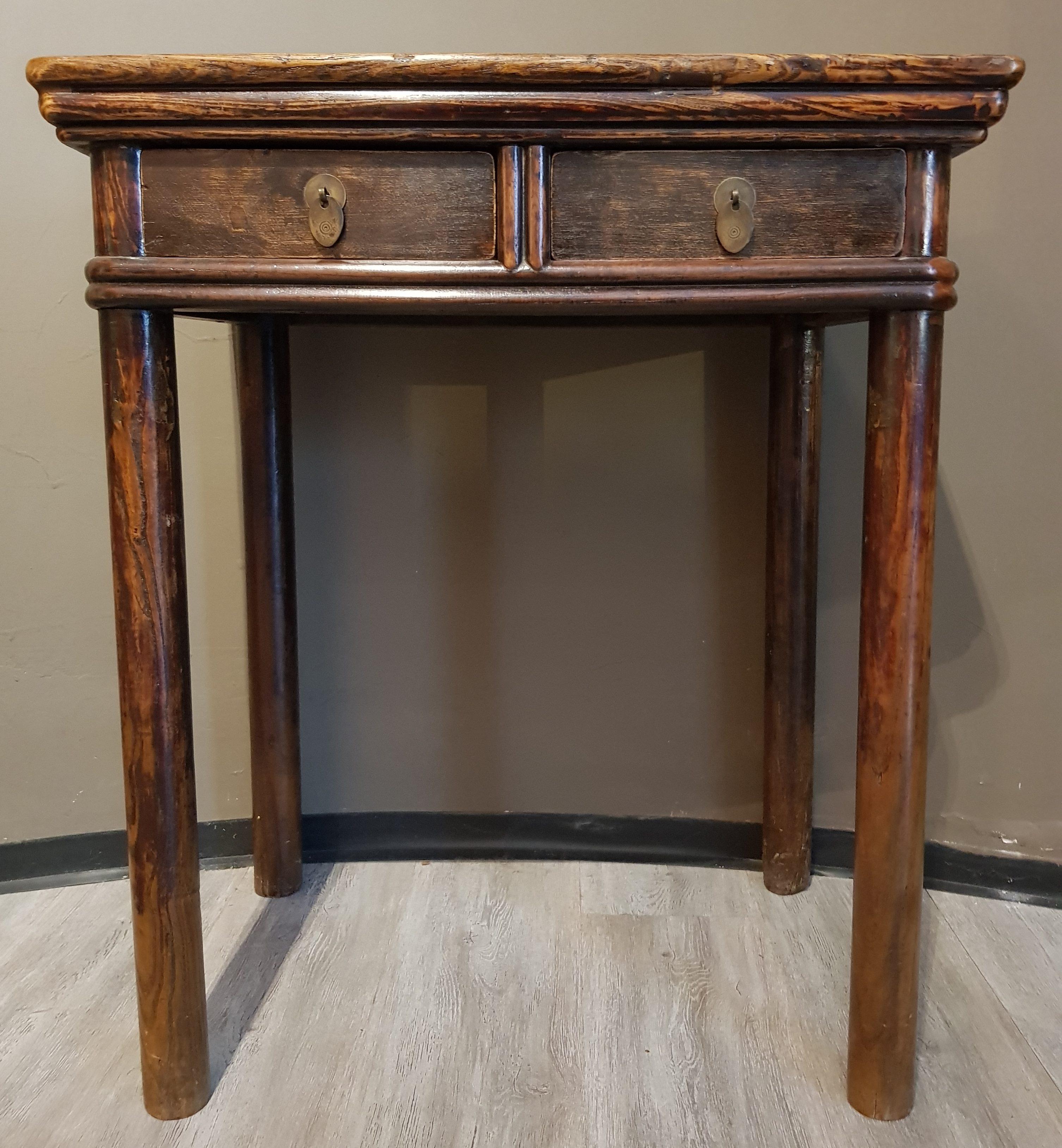 Chine - Petite table en bois de Yumu - 18/19ème - VENDU Image