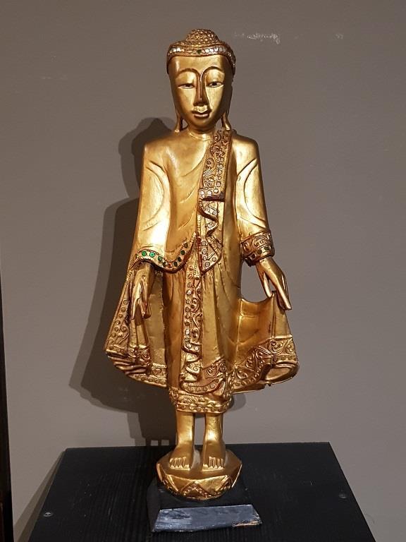 Bouddha en bois doré - Birmanie - VENDU Image