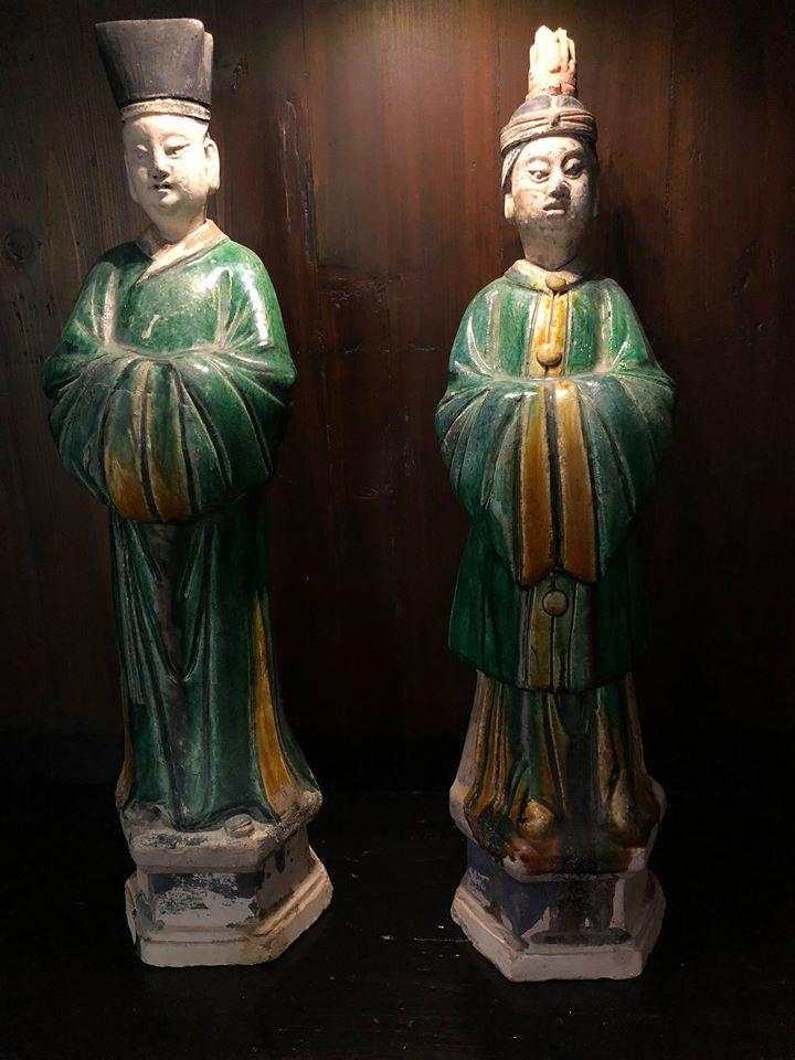 Couple de dignitaires - Dynastie Ming - Vendu Image