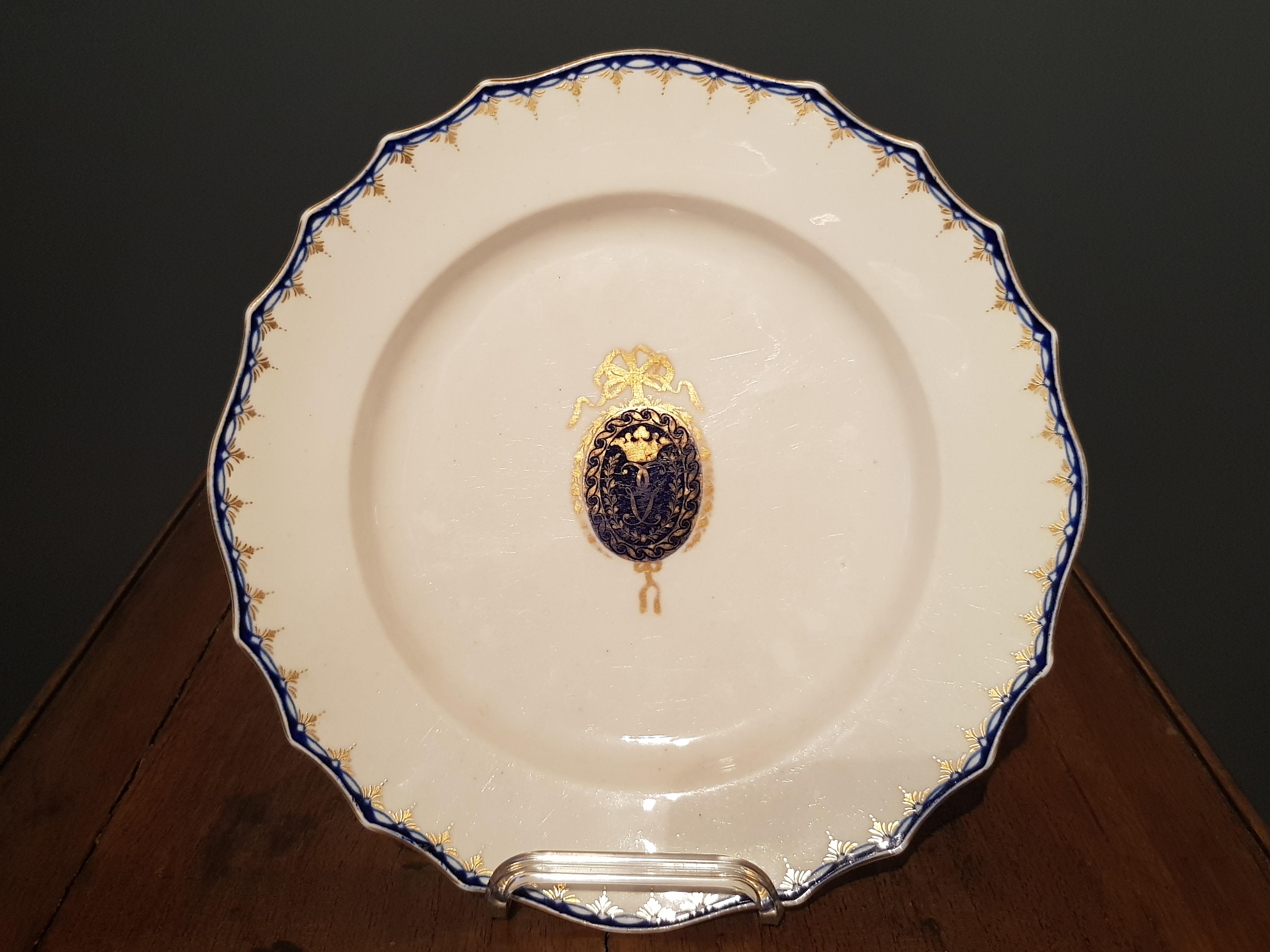 Assiette Famille Goetaels en Porcelaine de Tournai Image