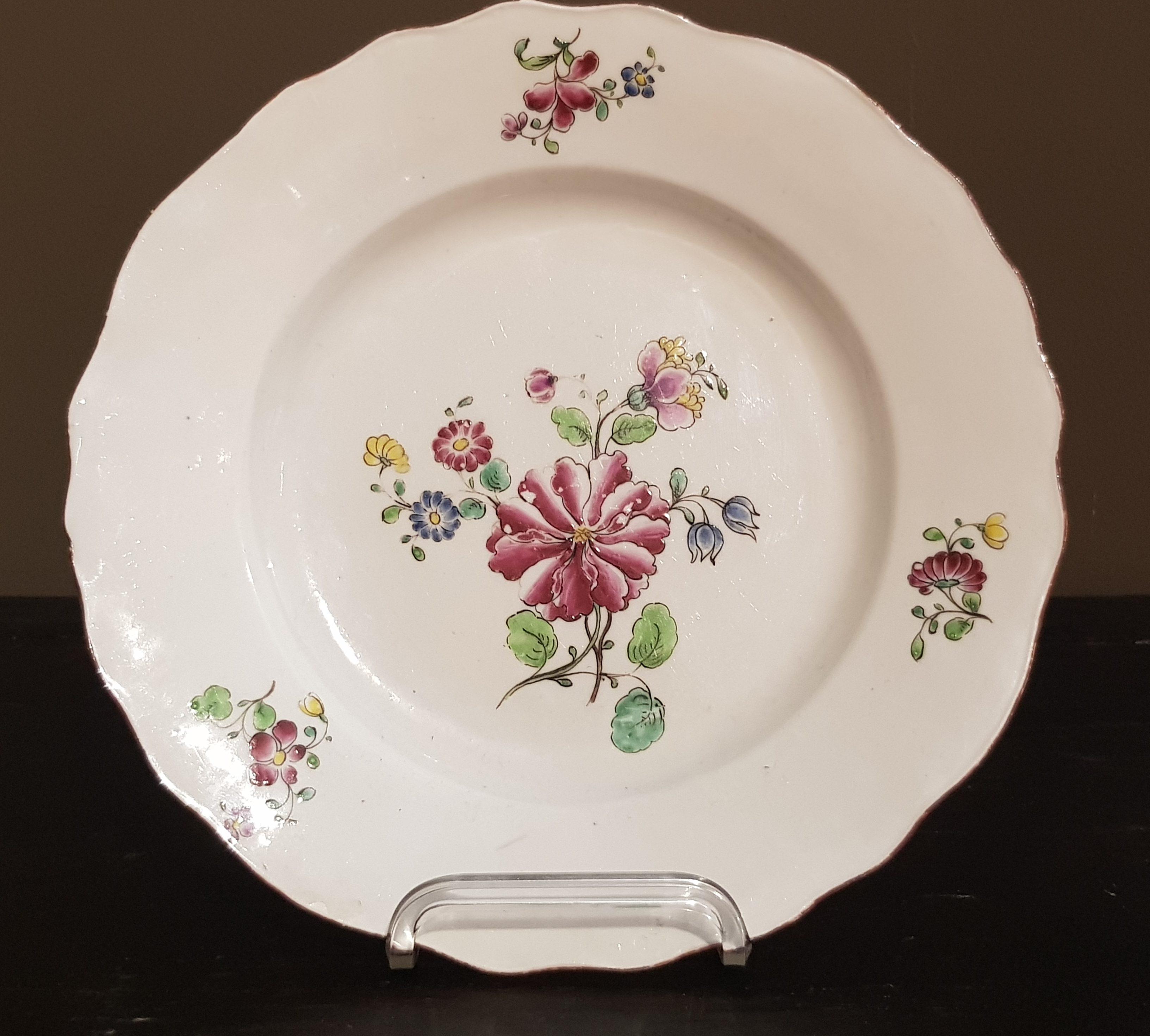 Assiette aux fleurs des Indes - Vendu Image