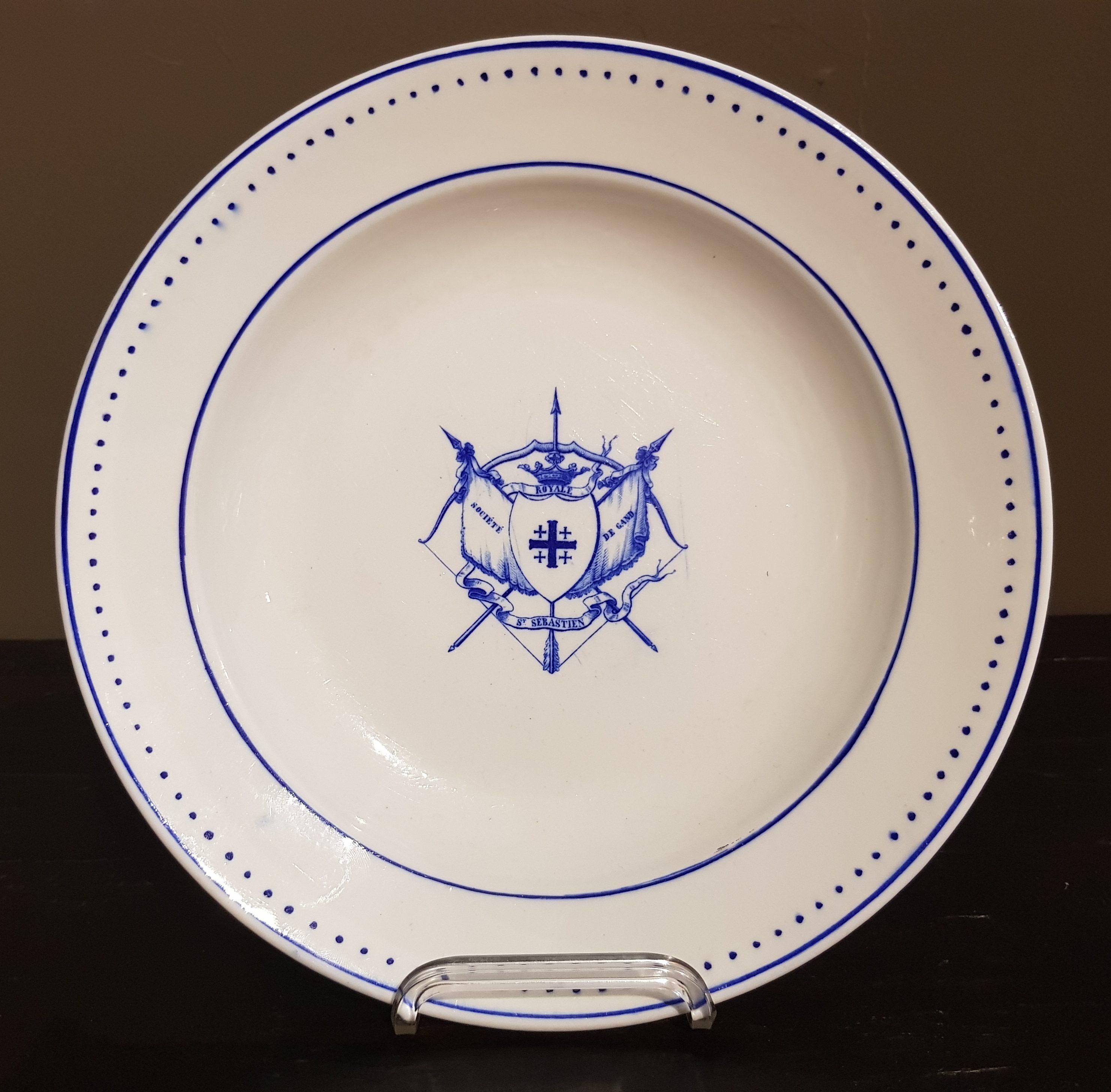 Prix de tir St Sébastien de Gand en Porcelaine de Tournai - VENDU Image
