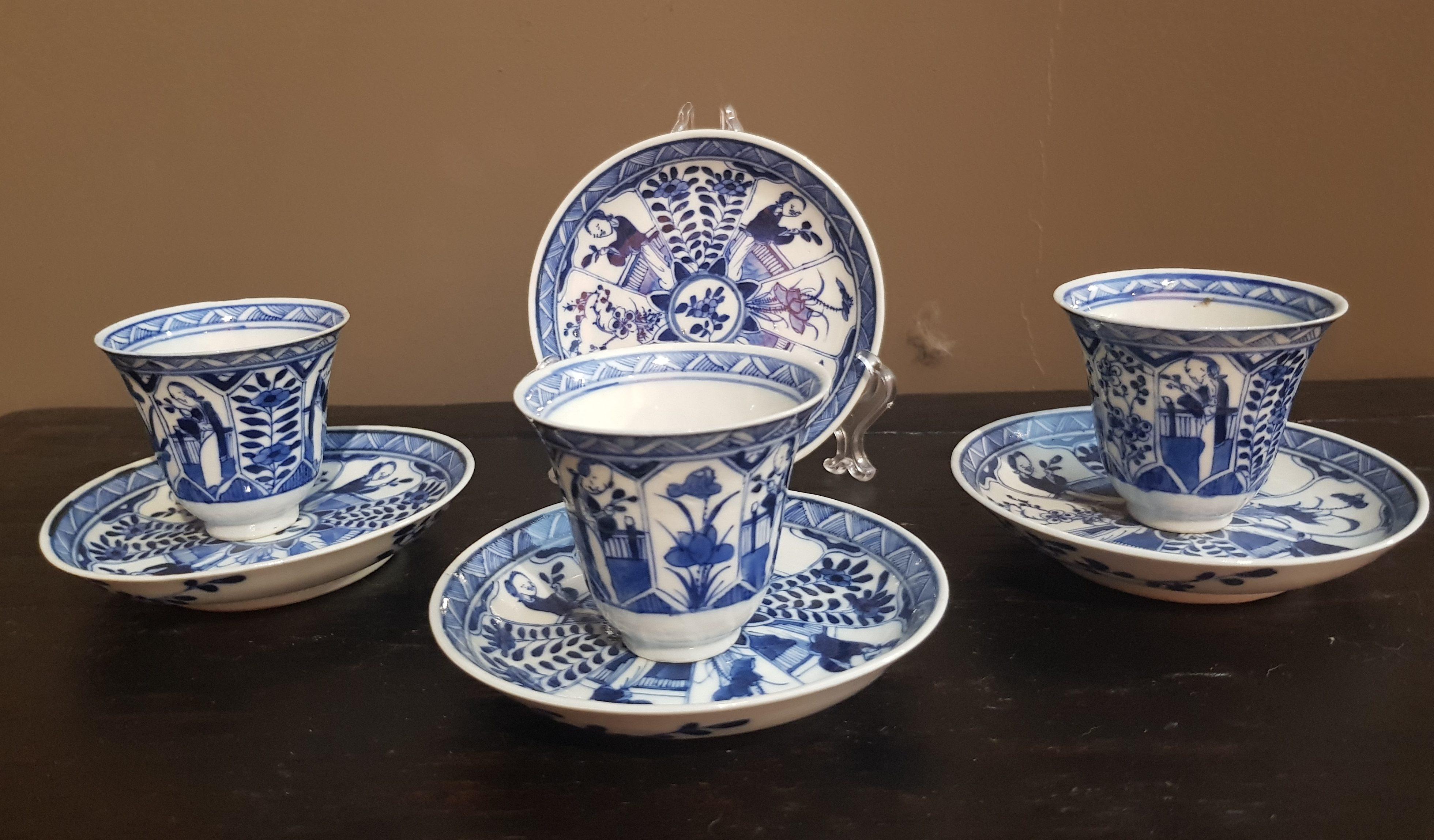 Tasses et soucoupes en Porcelaine de Chine - VENDU Image