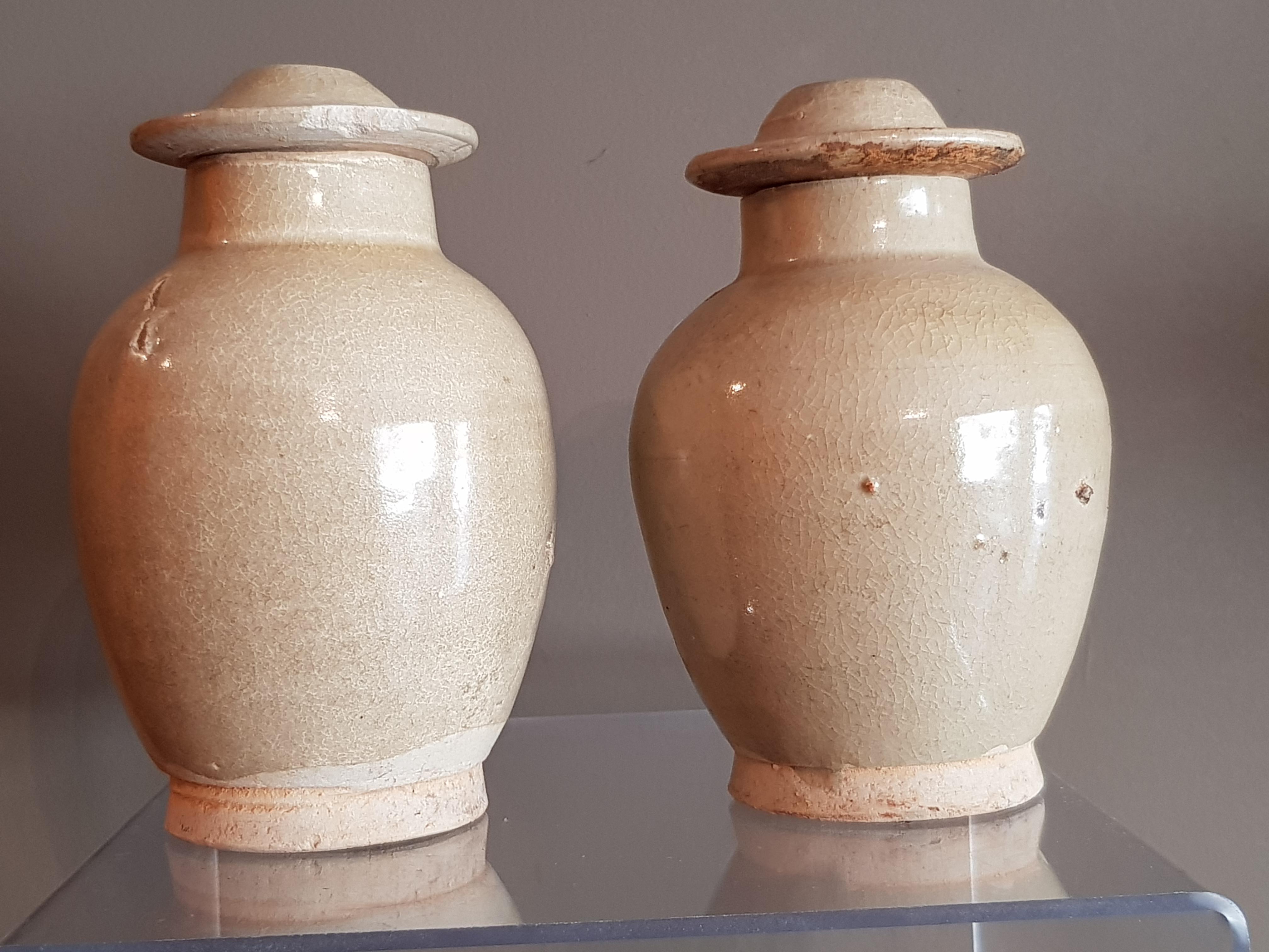 Paire de jarres couvertes, Céladon - Dynastie Ming - VENDU Image