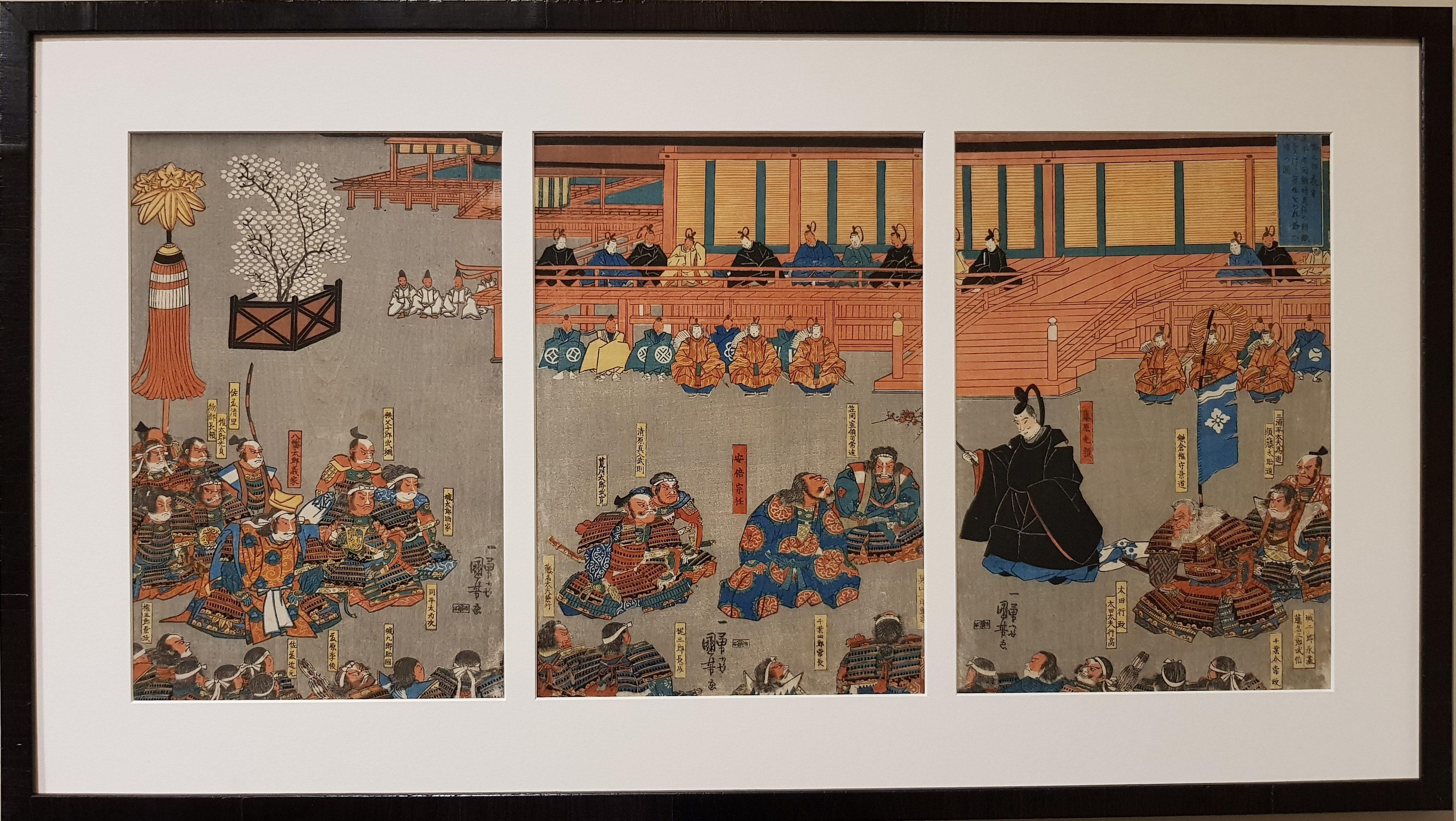 Japon - Estampe triptyque de Kuniyoshi Utagawa - Edo - VENDU Image