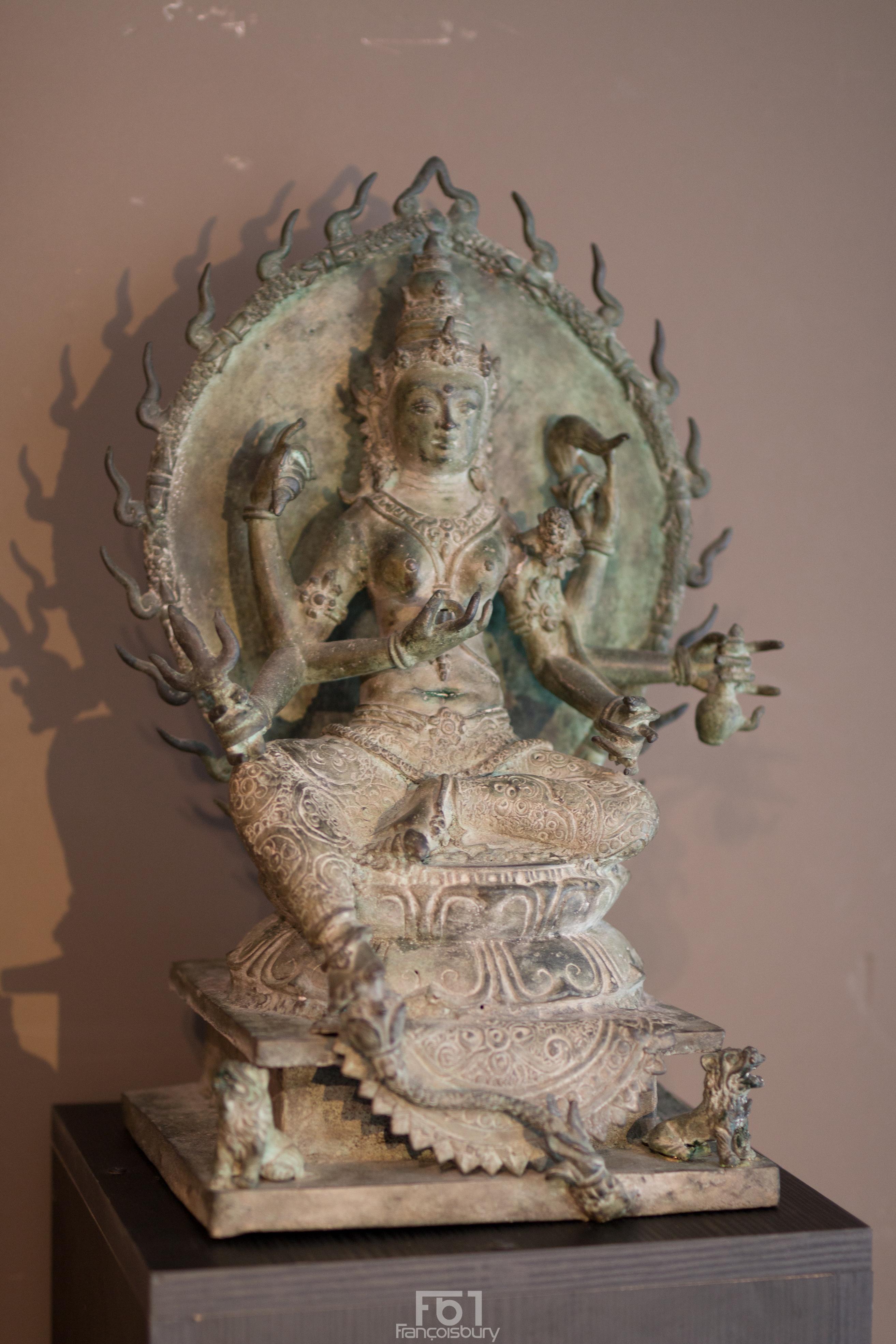 Déesse Durga en bronze - Vendu Image