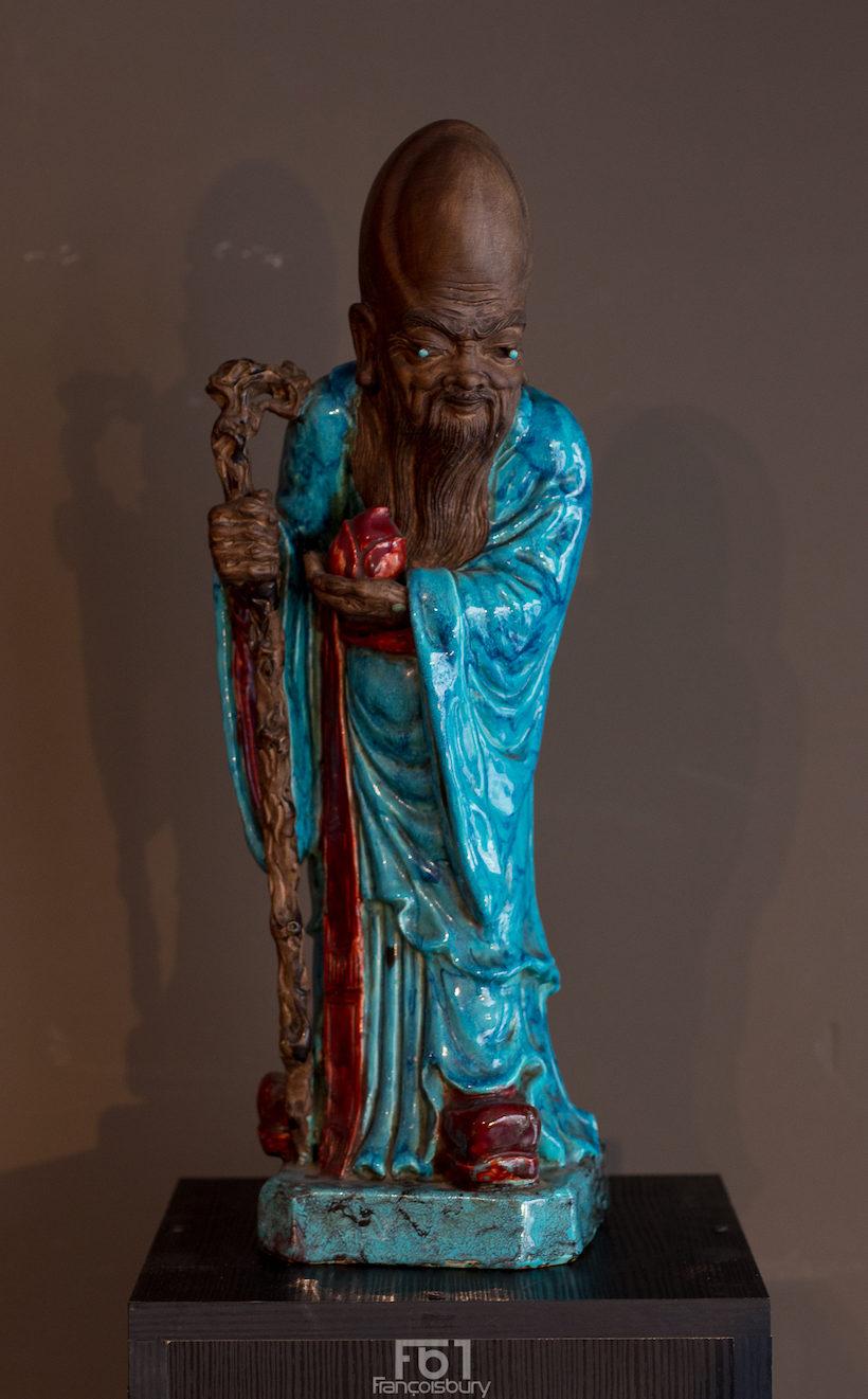 Chine - Grand Shouxing en céramique - 20ème - VENDU Image