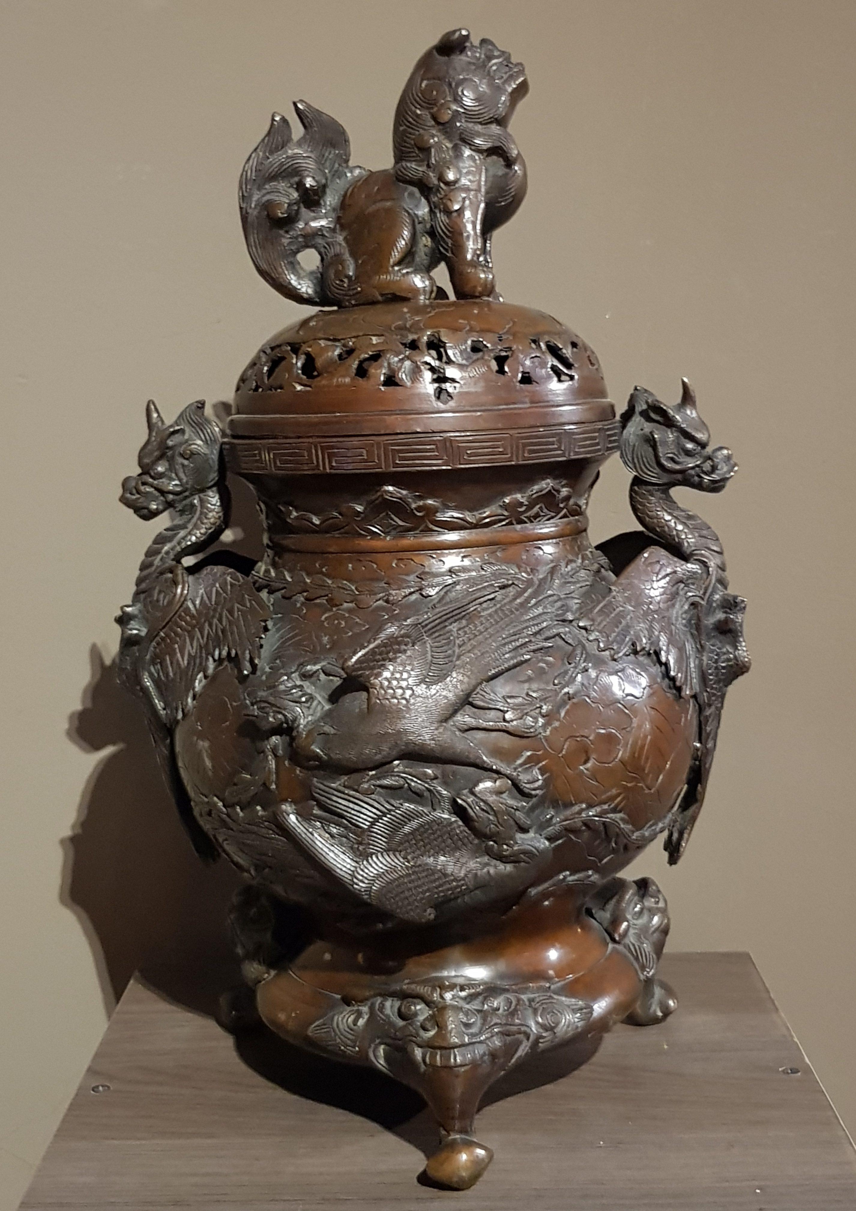 Brûle parfums en bronze - Ere Meiji - Signé Image