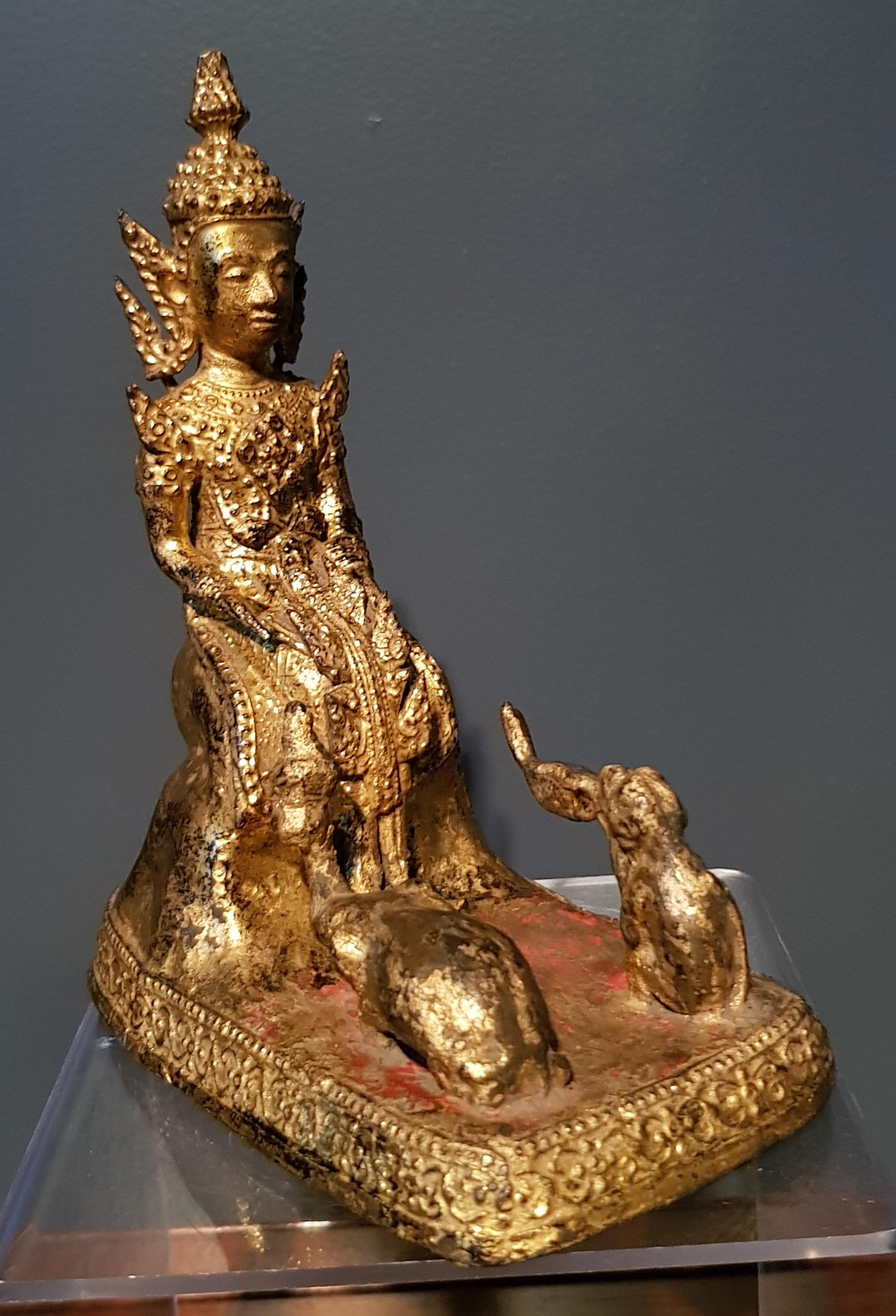 Thaïlande - Bouddha singe et éléphant - Jataka - Rattanakosin - Fin 19ème. Image